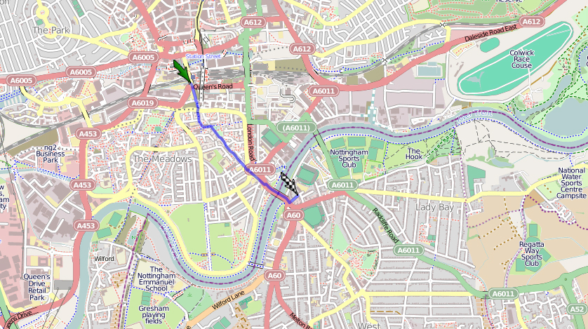 149the city ground nottingham fußweg