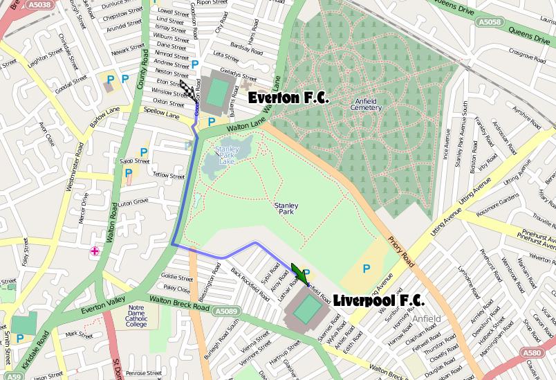 150goodison park liverpool fußweg anfield road