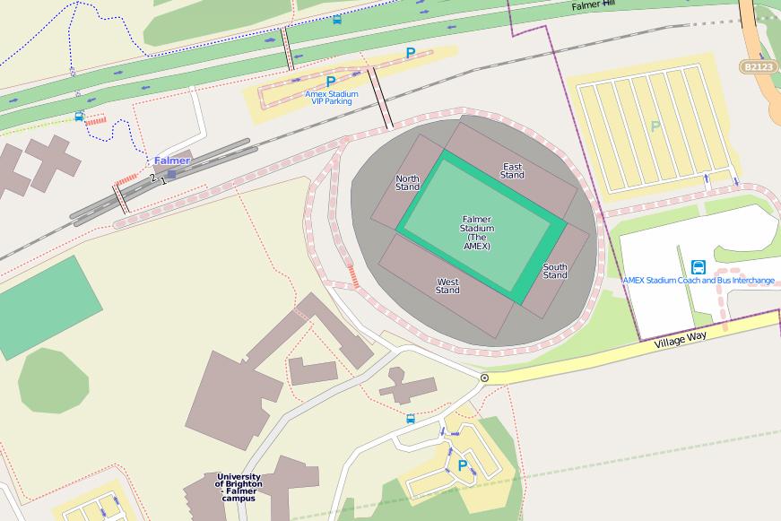 160Falmer Stadium in Brighton fußweg